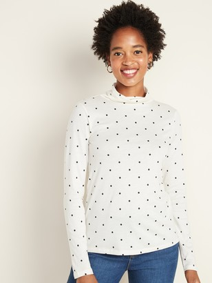 Old Navy Slim-Fit Polka-Dot Turtleneck for Women