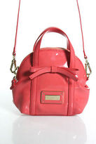 Emporio Armani Pink Patent Leather Zippered Shoulder Handbag