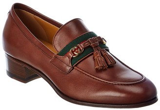 Gucci Web Interlocking G Leather Loafer