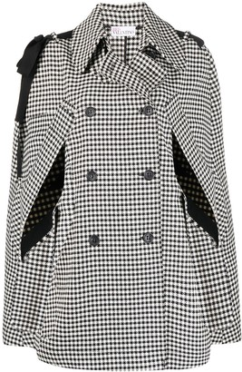 RED Valentino Bow Detail Cape Coat