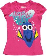 """Disney Finding Dory Little Girls' Toddler """"I Speak Whale"""" T-Shirt"""