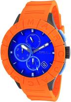 Marc Jacobs MBM5545 Men's Buzz Track Orange Silicone Watch with Chronograph