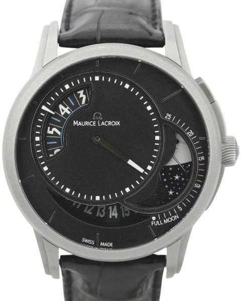 Maurice Lacroix Pontos Decentrique Moon Phase Limited Edition of 500 PT6218 Titanium 45mm Watch