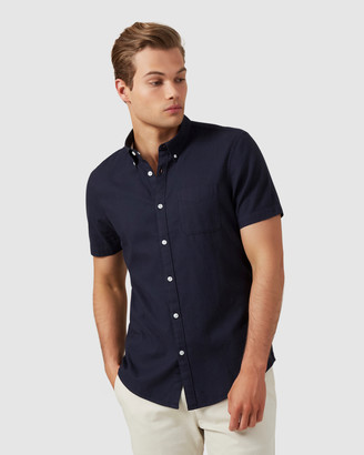 French Connection Men's Casual shirts - Oxford S-S Custom Fit Shirt - Size One Size, XS at The Iconic