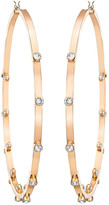 Swarovski Genna Hoop Pierced Earrings, White