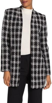 Calvin Klein Open Tweed Jacket