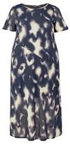 Dorothy Perkins Womens Dp Curve Blue Tie Dye Pint Dress, Blue