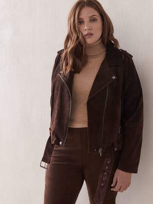 Blank NYC Belted Suede Moto Jacket
