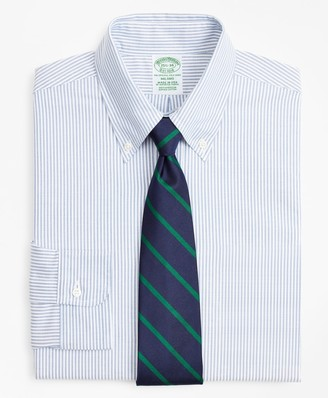 Brooks Brothers Original Polo Button-Down Oxford Milano Slim-Fit Dress Shirt, Stripe