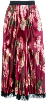 Twin-Set Pleated Floral Skirt