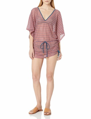 Luli Fama Women's American Dream Cabana V-Neck Dress Cover up