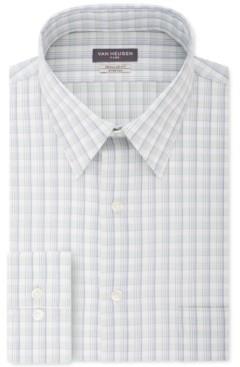Van Heusen Men's Classic/Regular-Fit Wrinkle-Free Performance Stretch Flex Collar Plaid Dress Shirt