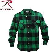 Rothco Men's Extra Heavy Weight Brawny Flannel Shirt -, Green