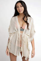 South Moon Under Tie Front Natural Kimono