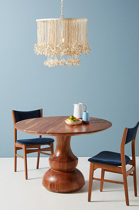 Anthropologie Jori Pedestal Dining Table By in Beige Size ALL