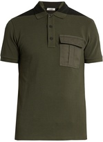 Valentino Bi-colour flapped-pocket polo shirt