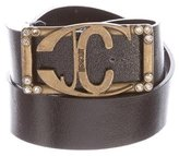 Just Cavalli Logo Patent Leather Belt