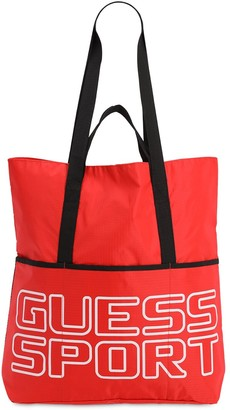 GUESS Babylon Printed Nylon Tote Bag