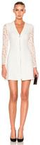 Lover Violet Mini Dress in White.
