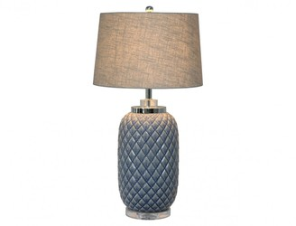 One World Blue Pineapple Lamp With Shade