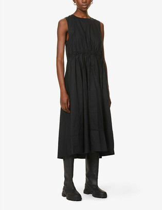 Gestuz Sori sleeveless cotton-poplin midi dress