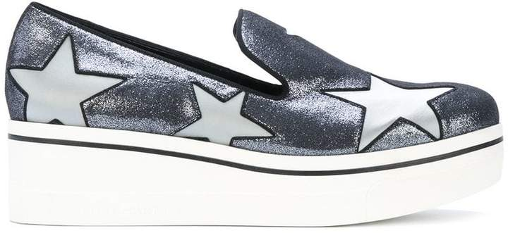 Stella McCartney metallic Star Binx loafers