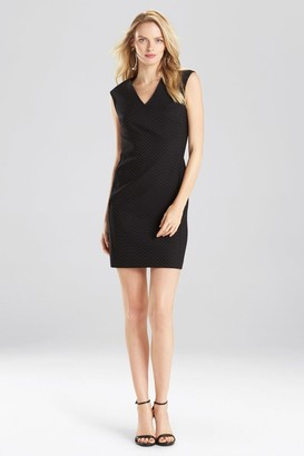 Natori Solid Jacquard Dress