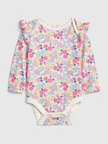 Gap Baby Print Ruffle Bodysuit