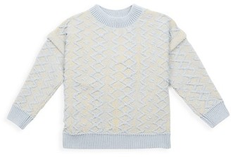 Bobo Choses Little Girl's & Girl's Braid Knit Sweater