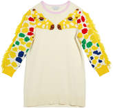 Stella McCartney Kid Girl's Giraffe Intarsia Sweater Dress, Size 5