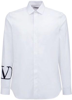 Valentino Logo Cotton Poplin Shirt