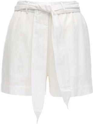 Peony Swimwear Magnolia Belted Organic Cotton Shorts