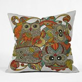 DENY Designs Valentina Ramos 4 Owls Throw Pillow, 20-Inch by 20-Inch by