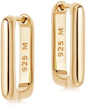 Missoma Gold Plain Ovate Huggies
