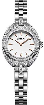 Rotary Womens Analogue Classic Quartz Watch with Stainless Steel Strap LB05087/02