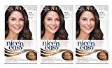 Clairol Nice 'N Easy Hair Color, 4 120 Natural Dark Brown 1 Kit (Pack of 3) by