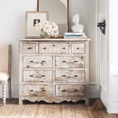 Thumbnail for your product : Kelly Clarkson Home Lyra 9 Drawer Double Dresser Color: Mint