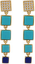 Freida Rothman Bricked Lapis Linear Drop Earrings
