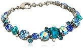 "Sorrelli Electric Blue"" Classic Multi-Cut Crystal Line Bracelet, 8"""