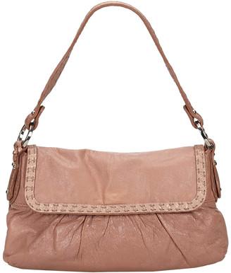 Fendi Pink Leather Selleria Chef Bag