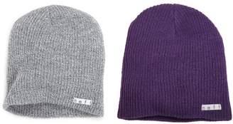 Neff 2 Pack Daily Beanie Grey/Purple One Size/One Size