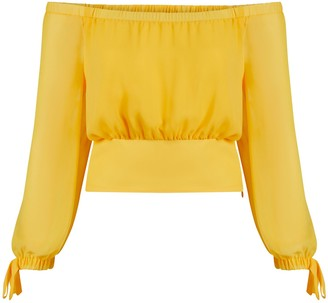 New York & Co. Off-Shoulder Long-Sleeved Blouse