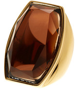 Trina Turk Faceted Curved Glass Rectangle Ring - Size 7