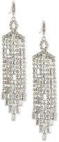 Carolee Silver-Tone Cubic Zirconia Chandelier Earrings