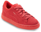 Puma Kids Boys) Red Suede Iced Jr Low Top Sneakers