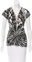 Emilio Pucci Embellished Abstract Print Top