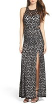 Sequin Hearts Women's Lace Gown