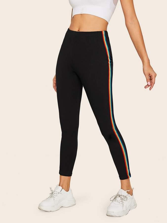 c677fba63f Rainbow Striped Leggings - ShopStyle