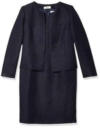Le Suit LeSuit Women's Jacquard Open Jacket Dress Suit