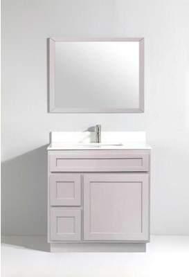"""Vanity Art Hibbitts 36"""" Single Bathroom Vanity Base Only Vanity Art Base Finish: Gray"""